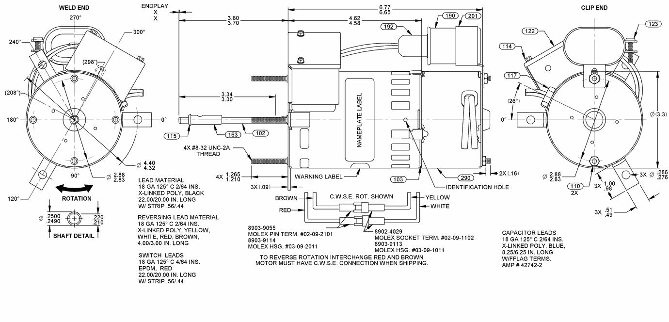 7162-0158, Fasco, 1/9HP, 230V, Draft Booster Motor on
