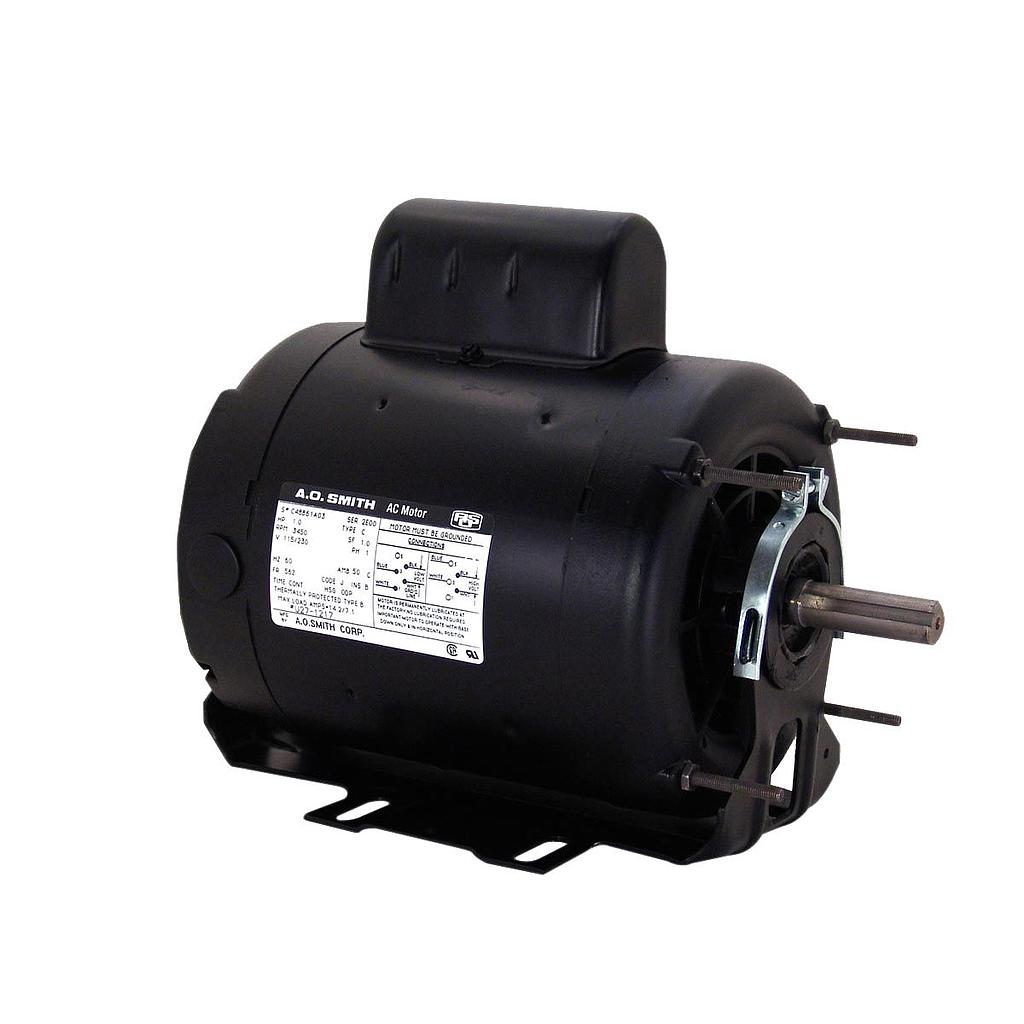 G56A04B83, AO Smith (now Century), 1HP, 115/208-230V, Capacitor Start  Resilient Base Electric Motor